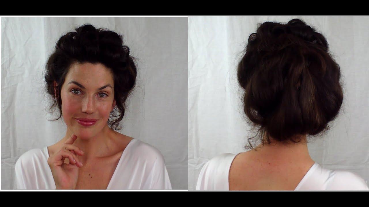 EASY Edwardian Mr Selfridge Kitty hair tutorial gibson girl