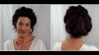EASY Edwardian Mr Selfridge Kitty hair tutorial (gibson girl Victorian updo style) -- VINTAGIOUS