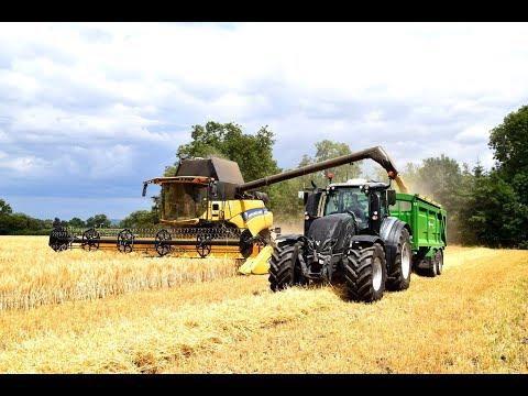 Boddington Estates New Holland CR8.90 Harvesting Barley 2018