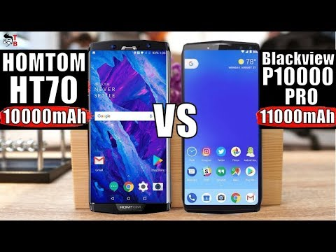 HOMTOM HT70 vs Blackview P10000 Pro: Compare Big Battery Phones of 2018