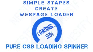 Simple Steps Create Page Loading Spinner: Pure CSS make page loading spinner by By Nestfy