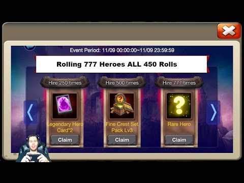 Hire 777 HEROES 115,000 Total Gems For THE GOODS One TIMEE! Castle Clash