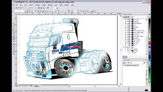 Car Cartoons How to Draw a Vector Truck Cartoon Illustration