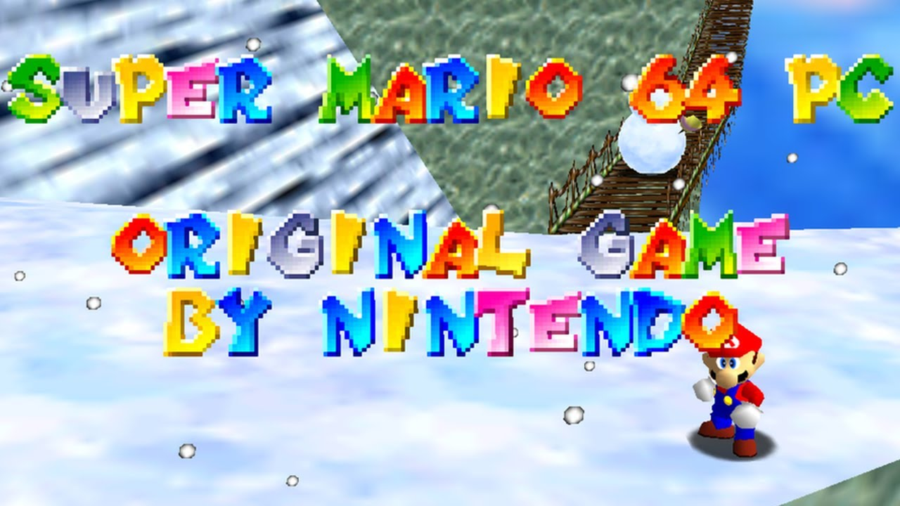 Super Mario 64 Pc Port Version Full 16 Star Playthrough