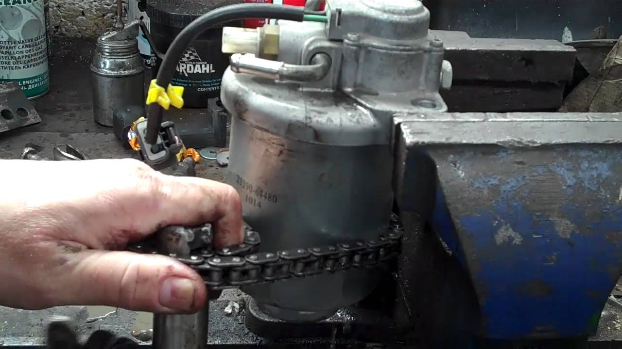 honda crv 2 2 diesel fuel filter replacment [ 1280 x 720 Pixel ]