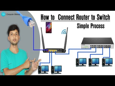How to Connect Router to Switch Simple Process in Hindi