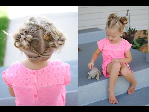 Messy Buns with Rope Twists | Q's Hairdos