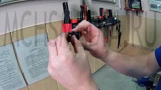 Ремонт напорных рукавов методом клёпки