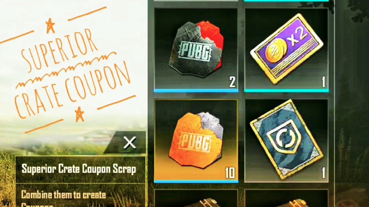 SUPERIOR CRATE COUPON , MISSION IMPOSSIBLE 6 THEME , PUBG