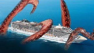 el Kraken MONSTRUO Marino Gigante REAL gigantesco calamar LEVIATAN
