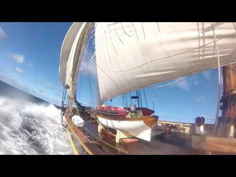 PRIDE OF BALTIMORE II sailing home 2016