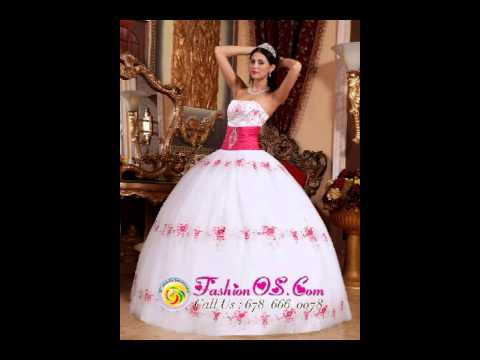 58f81271349 Beautiful White and Hot Pink Quinceanera Dress Strapless Taffeta and Tulle  Appliques Ball Gown