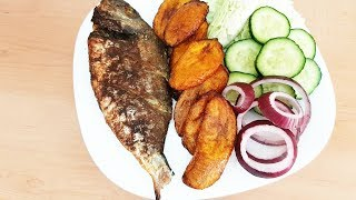 Nigerian Restaurant at Home   Evening Snack of Baked Fish