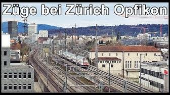 Swiss railways, Zurich / Zug Aufnahmen bei Zürich (Nord) und Opfikon Glattbrugg, Schweiz 2020