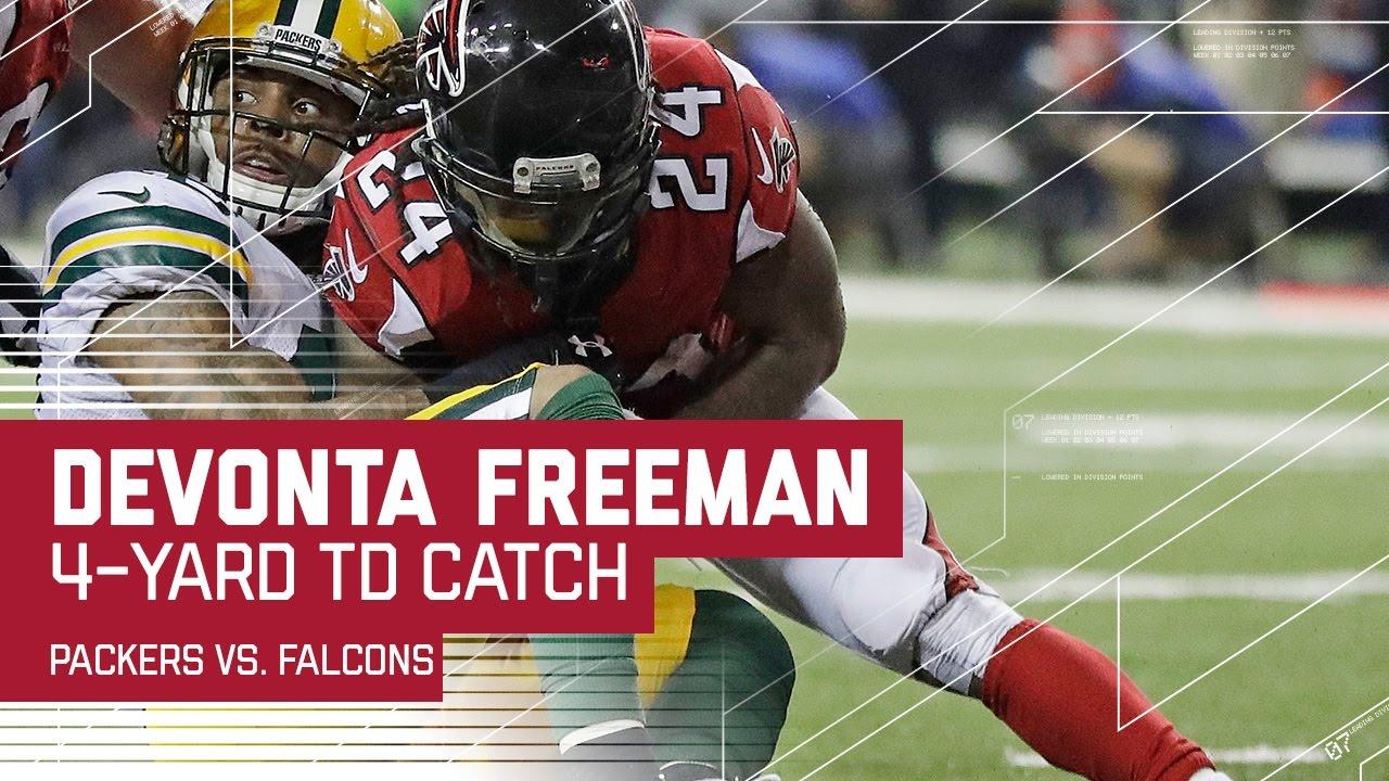 Julio Jones Unreal Catch Sets Up Freeman TD!   Packers vs ...