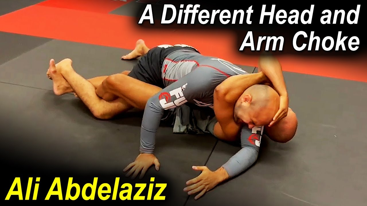 Very Different Set Up To The Head And Arm Choke by The Best MMA Manager In The World Ali Abdelaziz