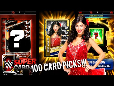 WWE SuperCard Gameplay Ep.17: Fusion Cards & Fusion Chamber, Making Fusion Cards, 100 Survivor Picks