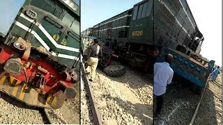 14DN Awam Express Hitted Tractor Trolly Near Gambat || Train Accident In Pakistan
