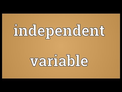 Scientific Definition Of Independent Variable Kid Friendly