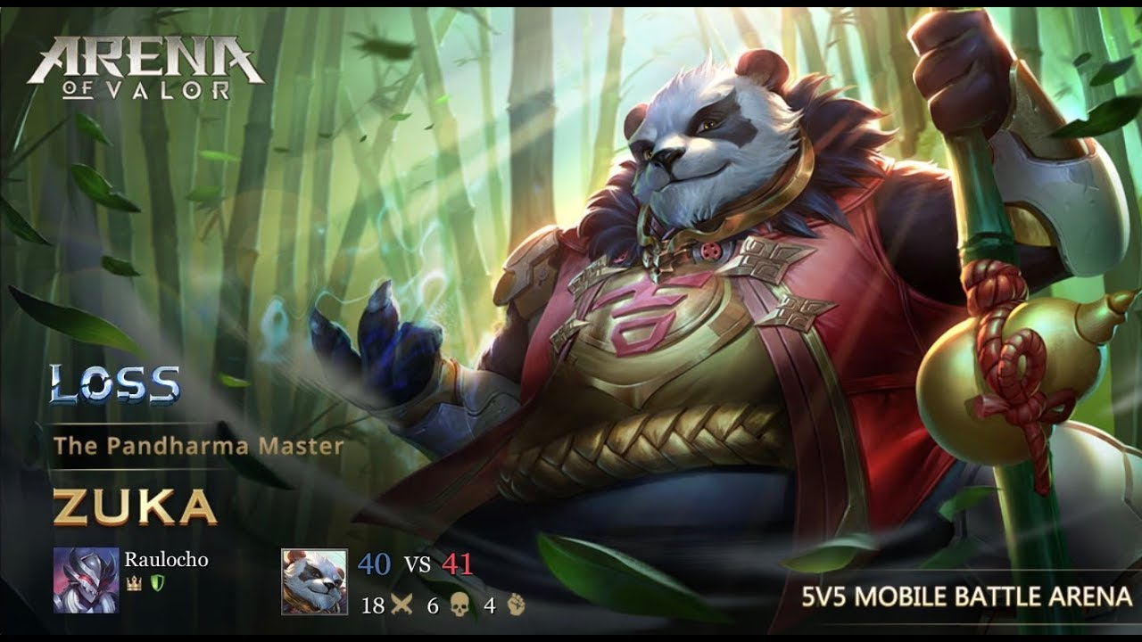 Arena Of Valor  Zuka Gameplay That Panda In The Jungle
