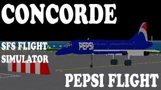 CONCORDE (PEPSI)  Roblox  SFS Flight Simulator