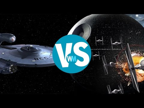 See who wins this age-old battle of 'Star Trek' vs. 'Star Wars'