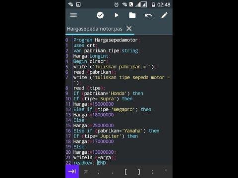 Pemrograman Pascal   Bab IF BERSARANG Pascal N Ide Android