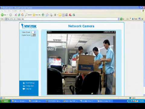 Hướng dẫn cấu hình xem camera vivotek qua internet