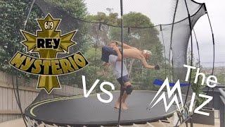 Rey Mysterio vs The Miz wwe championship
