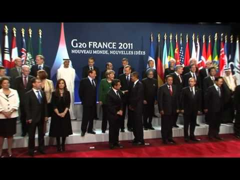 G20 Cannes Group Photo (Raw Video)