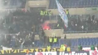 Roma v. Lazio - Ultras fight in arena 2009-12-06