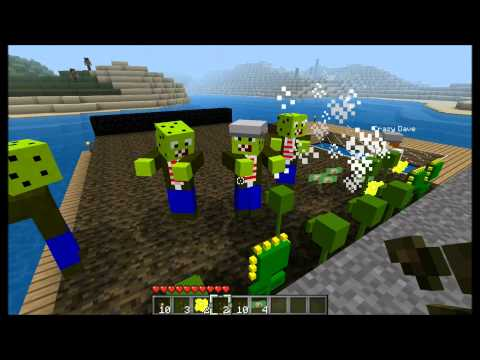 Minecraft Mod Spotlight: Plants Vs Zombies Update v5.0