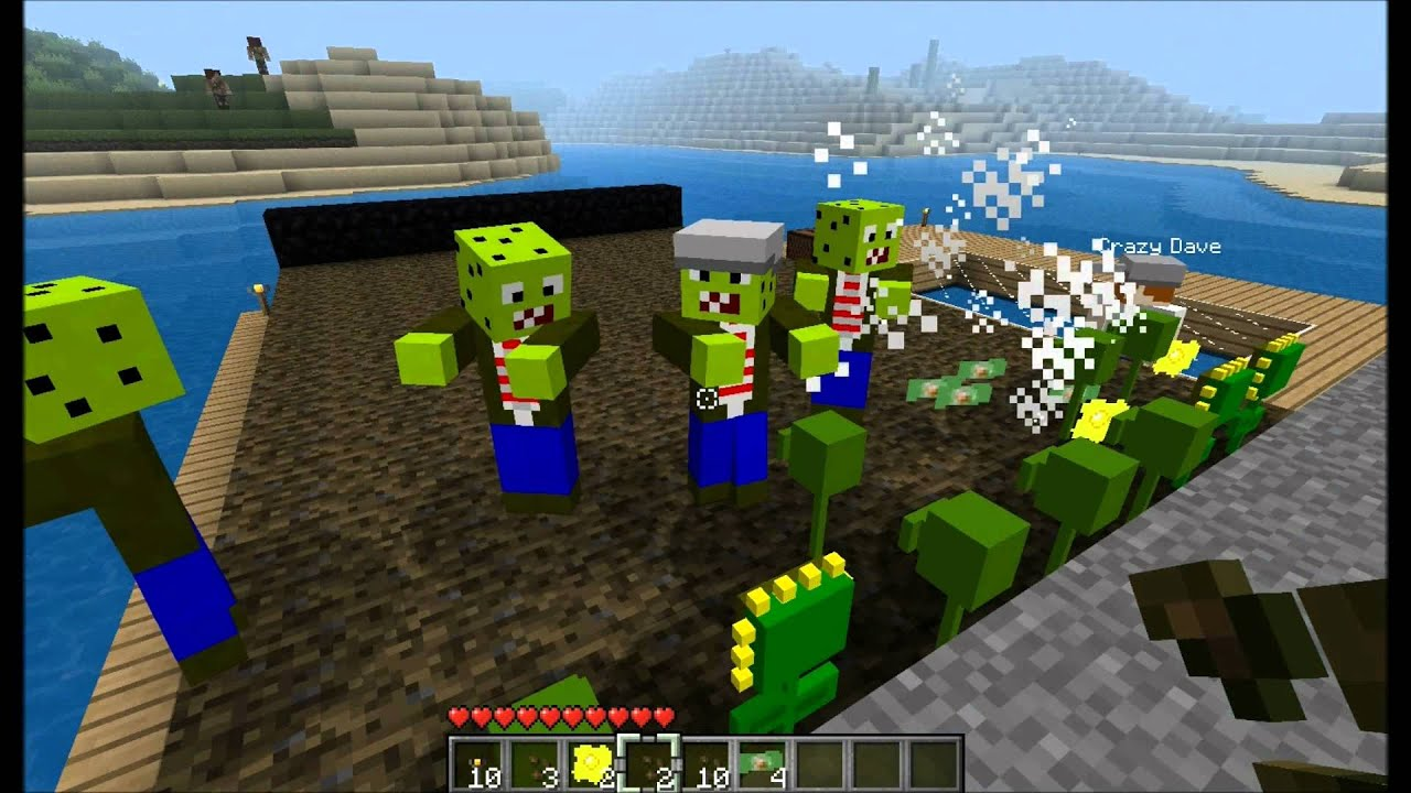 Minecraft Mod Spotlight Plants Vs Zombies Update V5 0