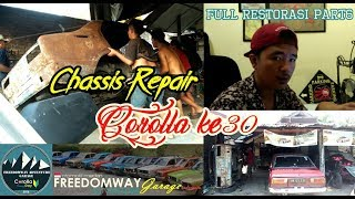 FULL RESTORASI COROLLA KE30 | REBUILD | CUT RUSTY CHASSIS PART6