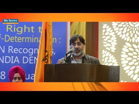 SPEECH OF PROF. S. A. R. GEELANI during CONFERENCE on SELF DETERMINATION by DAL KHALSA at AMRITSAR