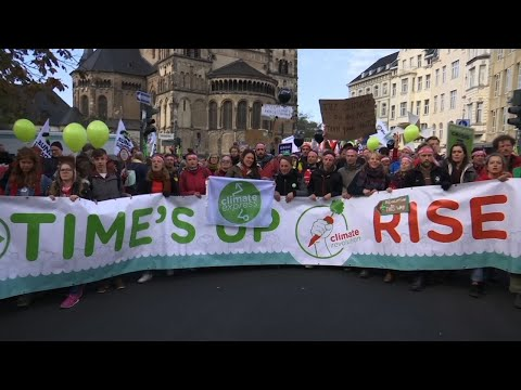 Protest Held in Bonn Ahead of UN Climate Summit