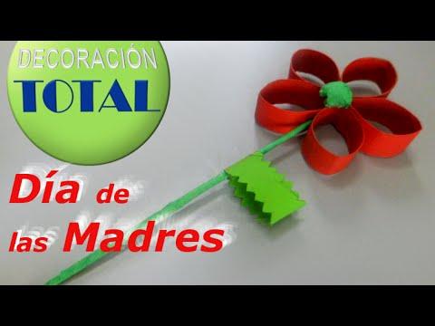 Flor Facil De Reciclaje Del Dia De Las Madres Para Realizar Con Los