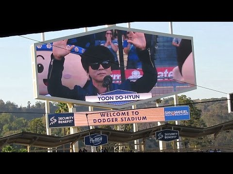 Yoon Do-hyun Sings US Anthem @Dodgers + CL at the End