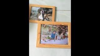 Làm khung hình bằng giấy giả gỗ đẹp NTN  không cần đinh đóng tường treo. how make a beautiful frames