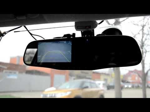 Видеорегистратор обзор + зеркало + камера заднего вида VIPER C3-351 Duo