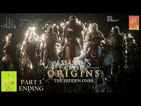 Assassin's Creed: Origins The Hidden Ones [PS4] - Walkthrough Part 3 |Nightmare Mode| 100% (Ending)