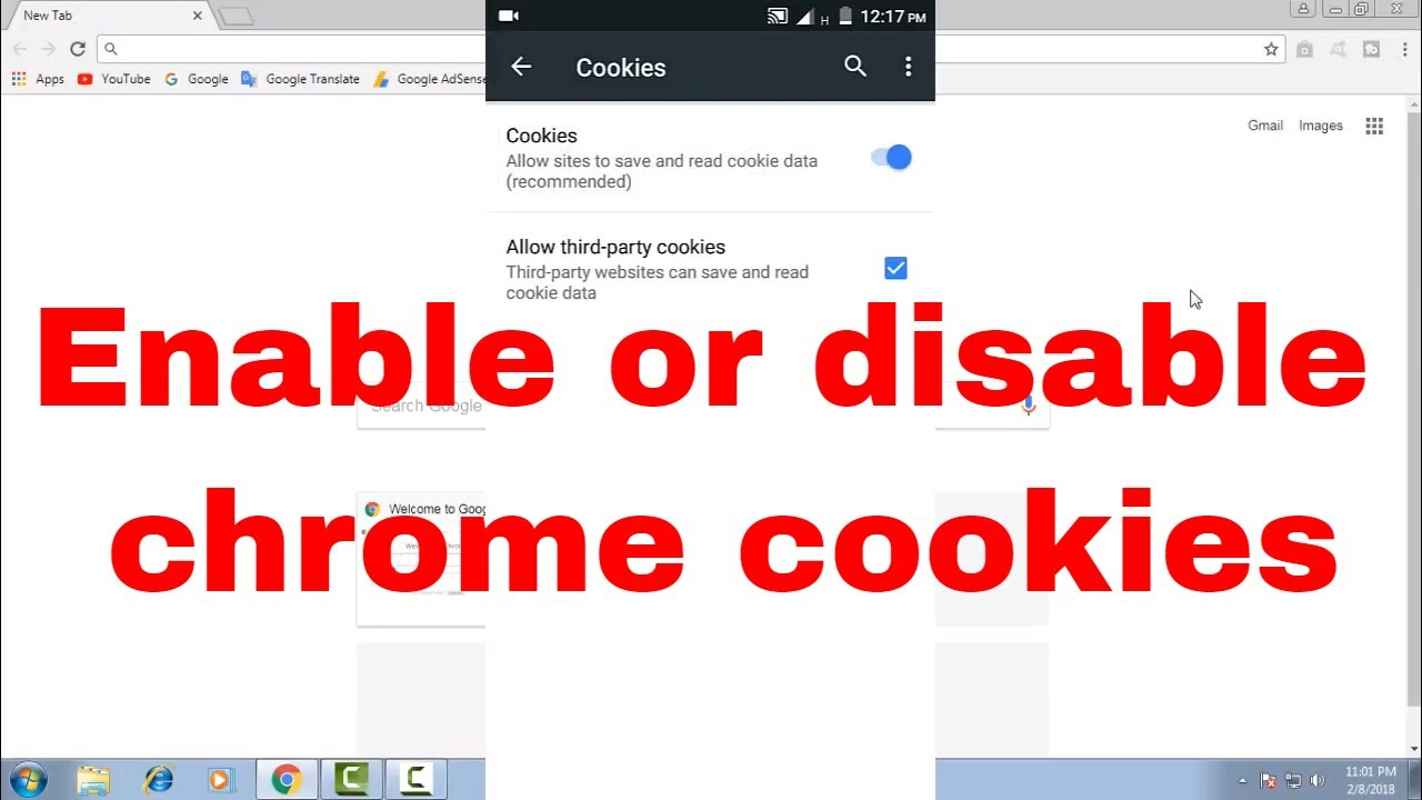 How to enable or disable (turn on or off) chrome app or browser