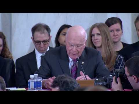Sen. Leahy Introduces Sen. Feinstein As The New Ranking Member Of The Senate Judiciary Committee