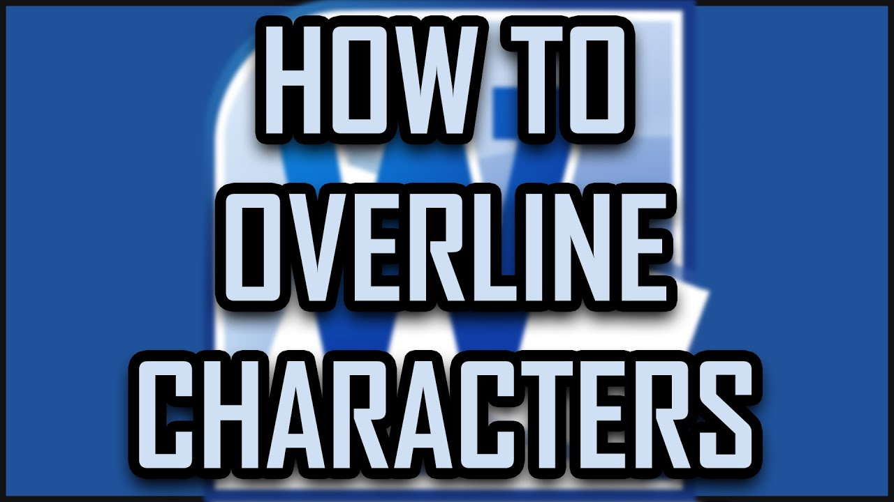 Microsoft office word how to overline characters letters symbols microsoft office word how to overline characters letters symbols text numbers words youtube buycottarizona Image collections