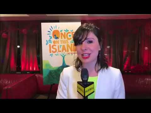 Playbill's FB Live at Once on This Island's Opening Night
