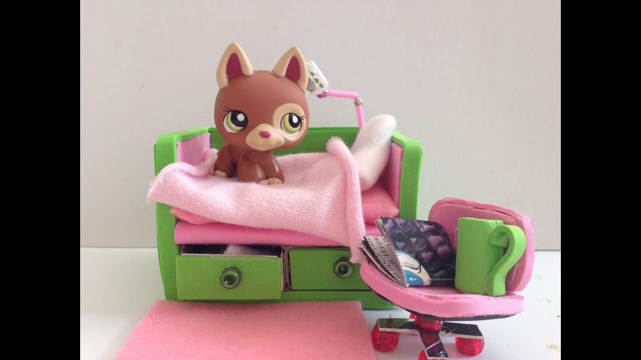 Diy Lps Bed Doll Bed Youtube
