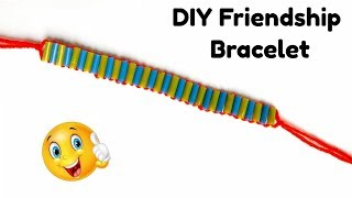DIY Friendship Bracelet/ How to make friendship bracelet at home.