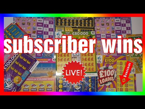 Subscriber Wins 💖 Scratch Cards National Lottery Uk 🎉