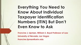 ITINs 101: Everything You Want to Know About ITINs, But Don't Know What to Ask (Webinar)