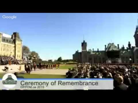 2015 Canadian Police & Peace Officers Ceremony of Remembrance #HereosInLife #HerosEnVie